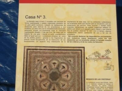 Mosaico casa 3 - Yacimiento arqueológico Clunia sulpicia; naturaleza viajes; club de montañismo ma